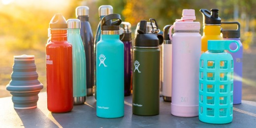 Enough plastic is thrown away each year to circle the Earth four times. One of the easiest ways to reduce your plastic consumption is to use a reusable water bottle instead of plastic ones.