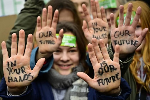 People in Berlin during a Fridays for Future event