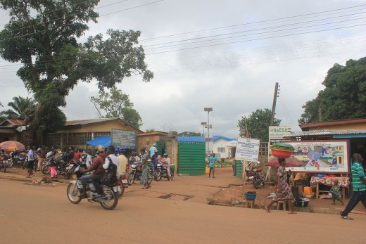 A hospital in Sierra Leone where ebola patients were treated.
