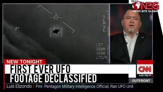 Luis Elizondo, who lead the AATIP UFO investigation program being interviewed by CNN.