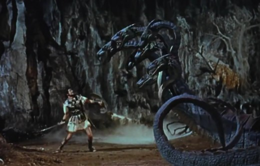 "Image of Hydra fight from ""Jason and the Argonauts"" 1963."