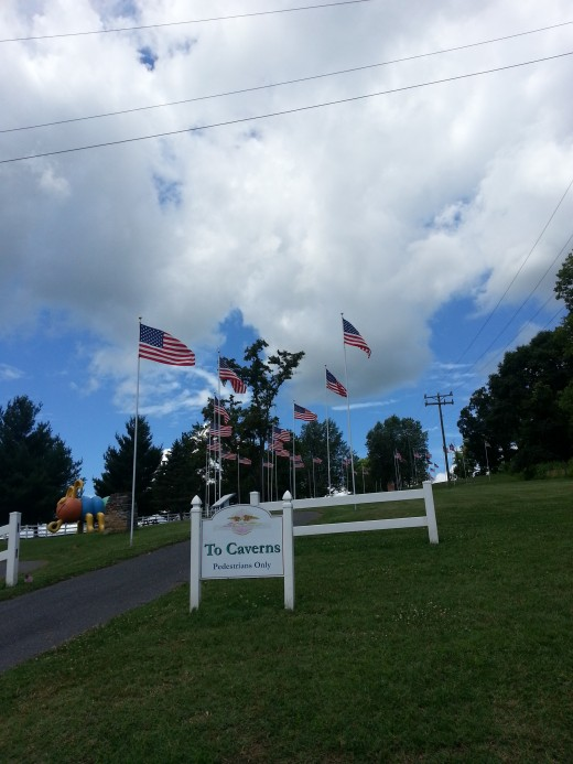 Walkway from American Celebration on Parade to the Caverns Lodge. July 2013.