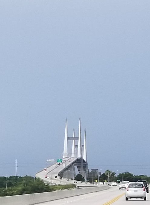 The bridge entering Savannah, GA