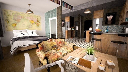 How to lay out a studio apartment