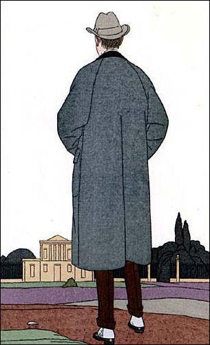 Men's Overcoat And Spats 1914.
