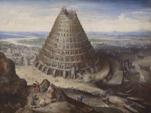 The Tower of Babel, an early example of the human quest for the sky