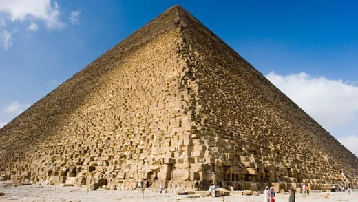 The Great Pyramid at Giza, exalting the Pharaohs and the world's tallest structure for many centuries