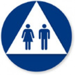 A Unisex bathroom sign.