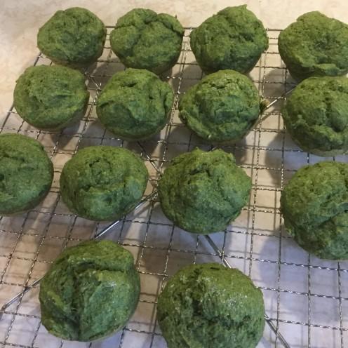 Sweet Vegan Spinach Muffins