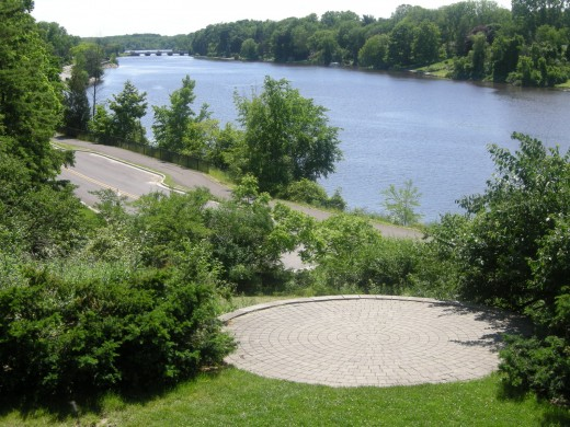 Frances Park above the Grand River