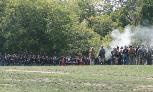 August Civil War Muster at the park near the Cascades