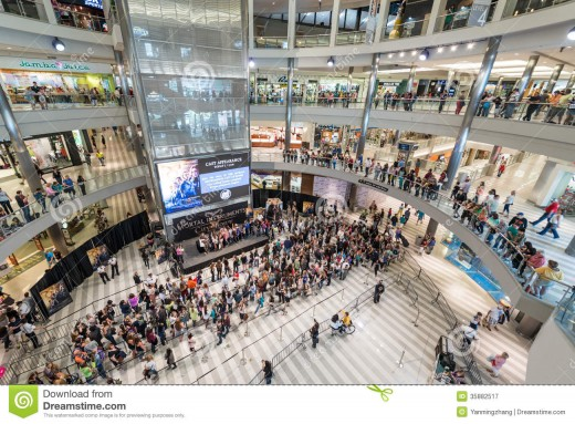 Mall of America interior showing complexity of functions and enclosed shopping experience