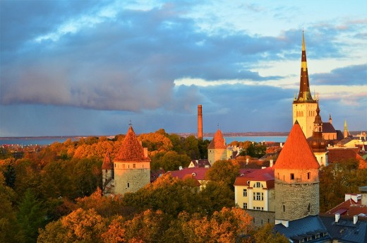Tallinn city view from Toompea hill