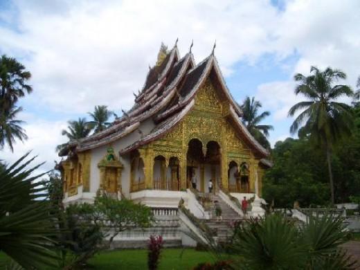 Wat Haw Pha Bang in Luang Prabang Laos
