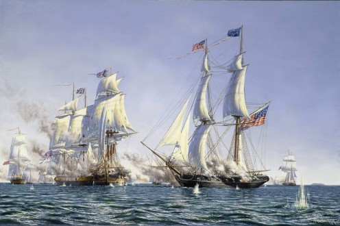 Re-enactment of Battle of Put-In-Bay