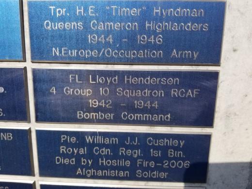 Juno Beach Memorial plaque