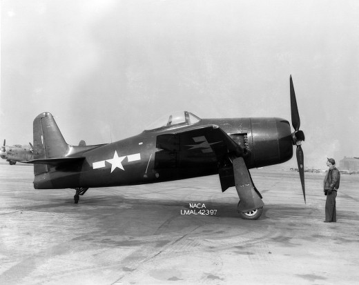 The XF8F-1 Bearcat Langley Research Facility, 1945.