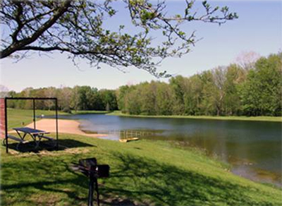 Fox Memorial Park and lake, Potterville