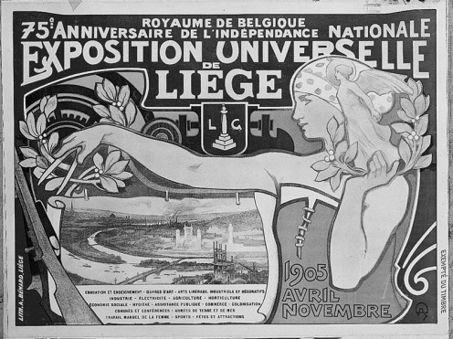 Official poster for the Universal Exhibition of 1905, Liège