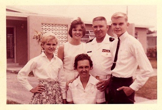 Lieutenant Commander Moore and his family