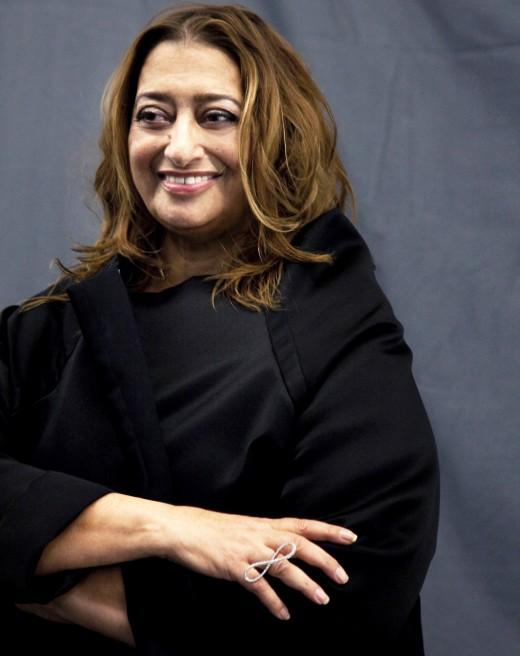 The late Dame Zaha Hadid, designer of the Broad