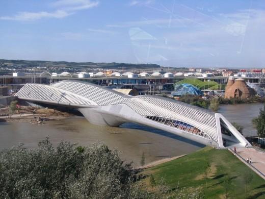 Bridge Pavilion in Zaragoza, Spain over the River Ebro