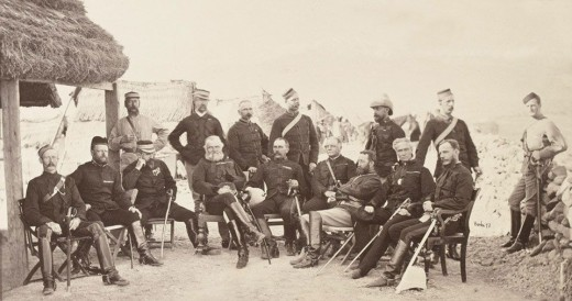 English generals from the Sikh soldiery Lt Gen Sam Browne and staff 1878