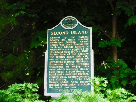 Second Island state historic marker with historical information