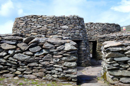 A remote stretch of the highway has these ancient stone huts, also known as beehive huts.