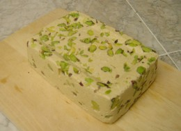 Sesame seeds based Halva with pistachios-from the Balkans