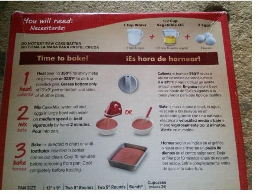 follow cake mix ingredients