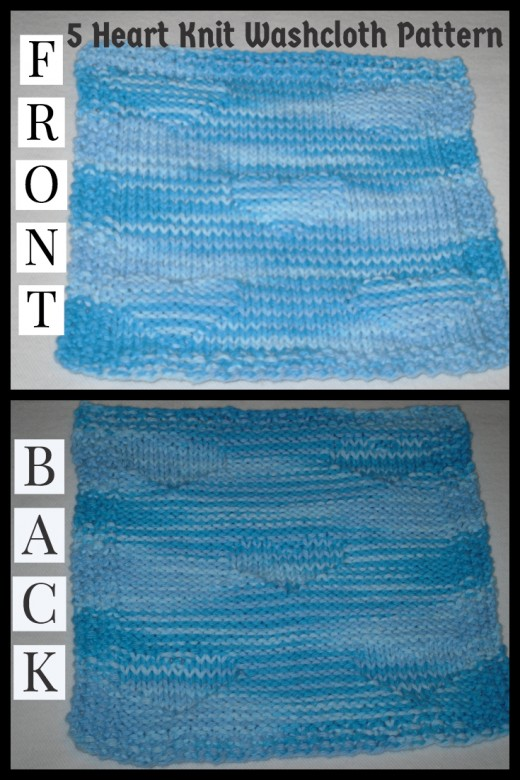 Right side and reverse of knitted work
