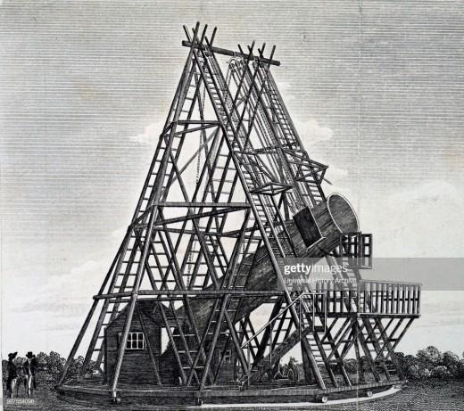 William Hershel's giant telescope used to discover Uranus