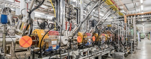 MSU'S FRIB project nearing completion.  When activated, it will be a local contribution to the advancement of global science.  Out of this maze of complex machinery some fundamental questions of physics will be answered