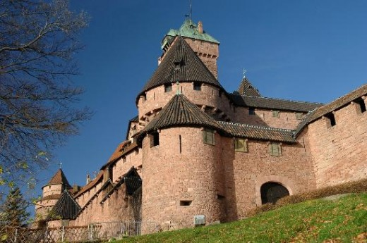 Chateau du Haut-Koenigsberg in upper Rhine valley--symbolic of medieval power and sovereignty