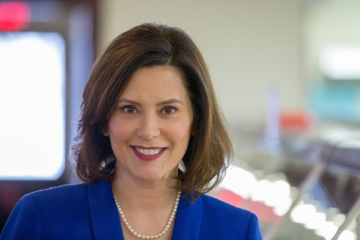 New governor Gretchen Whitmer, who will oversee the new bridge to completion