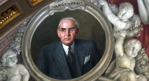 Arthur Vandenberg's official portrait in the U.S. Senate