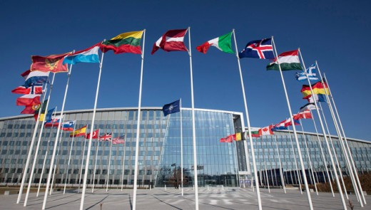 NATO headquarters, Brussels--an international institution backed by Vandenberg