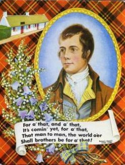 The immortal Rabbie Burns Wi, Haggis Neeps and Tatties