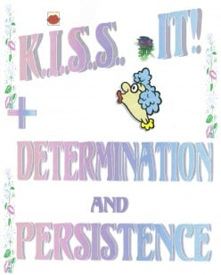 + determination and persistence
