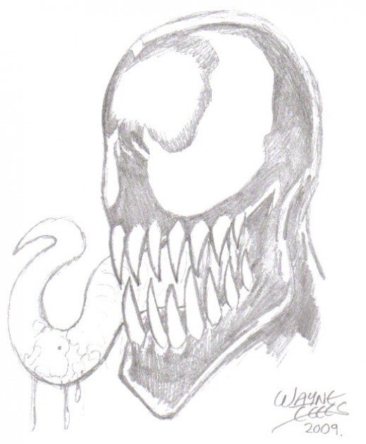 Comic Book Drawing: How To Draw Venom