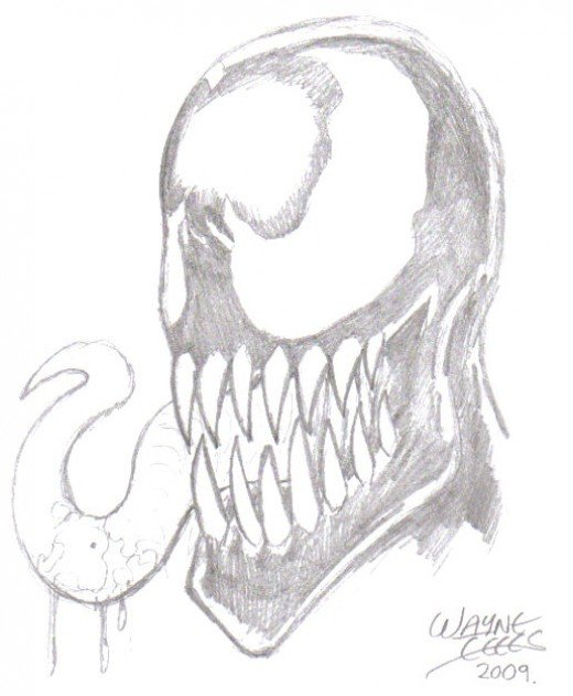 Venom character - Trademark and Copyright Marvel 2009.