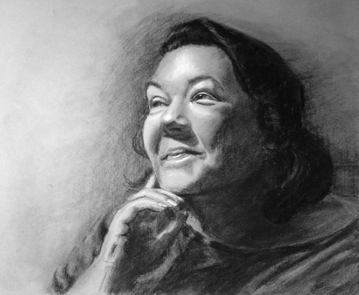 My self-portrait in charcoal