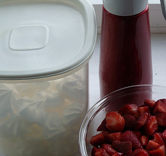 The Ingredients for Eton mess