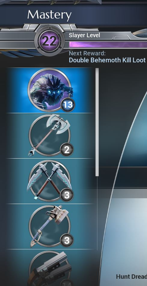 These are the mastery categories which you need to level up to be able to enhance your gear to the highest levels.