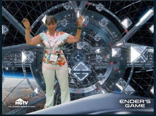 Me on the set of Ender's Game.