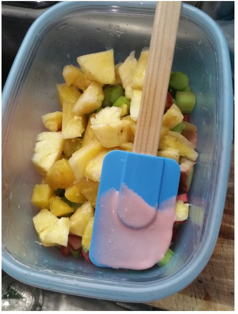 oh, yes, and some pineapple chunks