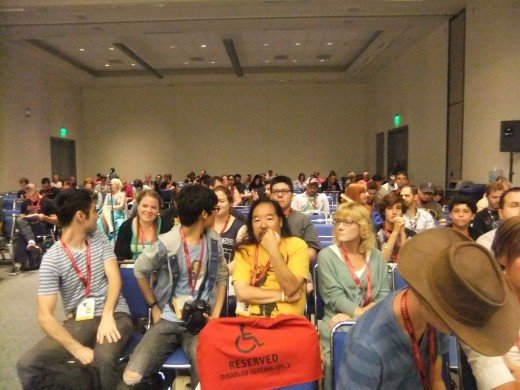 Panel rooms fill up quickly, so if you didn't get there early, you miss the boat!