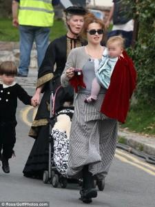 Burton, Bonham-Carter and children