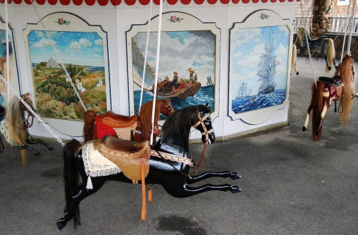 The Flying Horse Carousel in Watch Hill.
